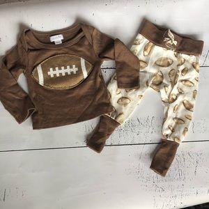 Mud Pie Vintage Football Outfit
